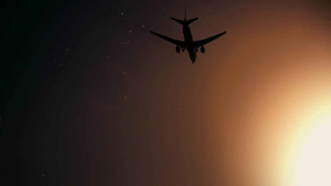 Plane Flying At Night