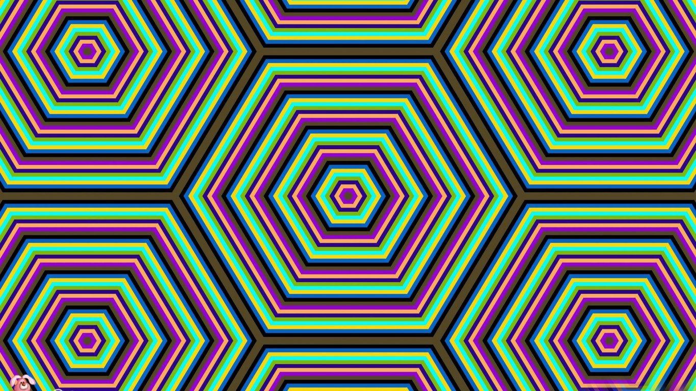 Psychedelic Hexagons