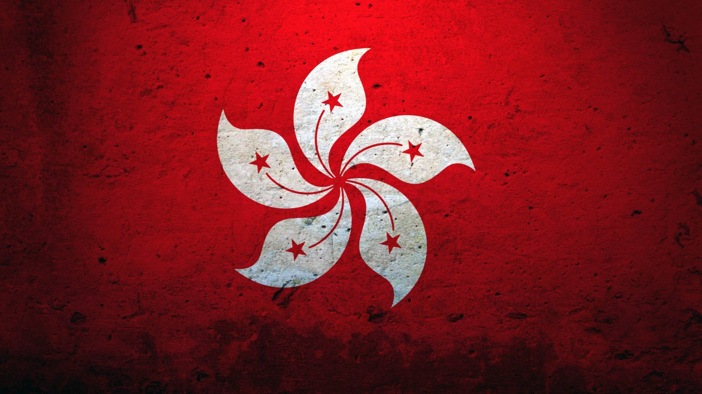 Hong Kong China Flag
