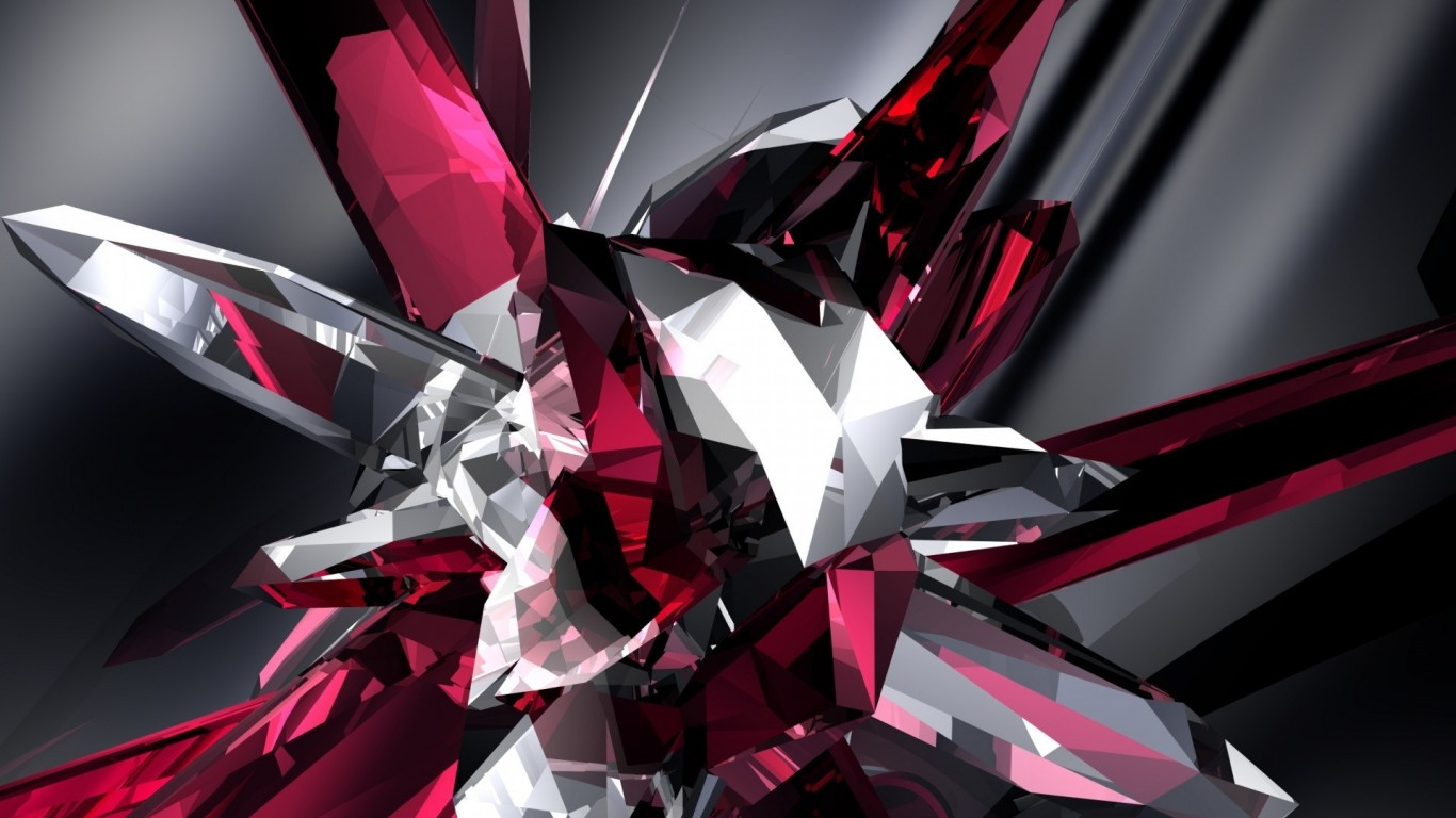 Abstract  Crystal  Digital Art  3D