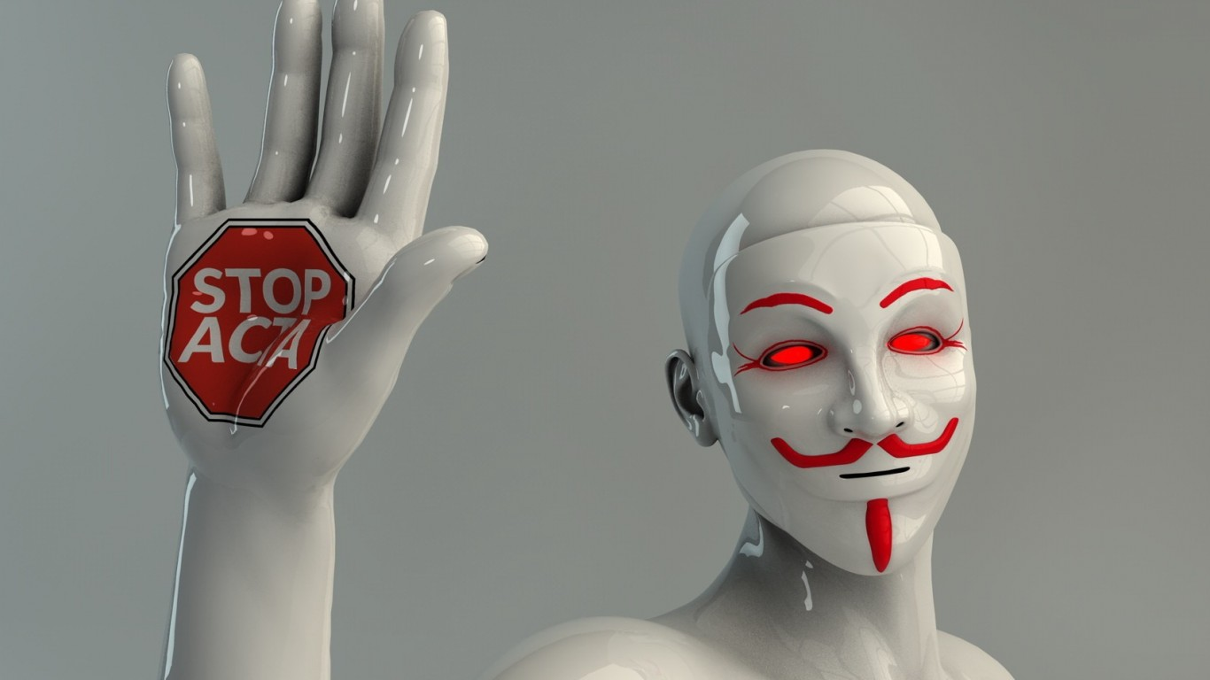 Anonymous  Masks  Guy Fawkes  3D  stop Signs  ACTA