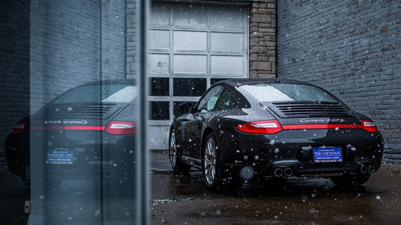 Snowing On A Porsche Carrera GTS