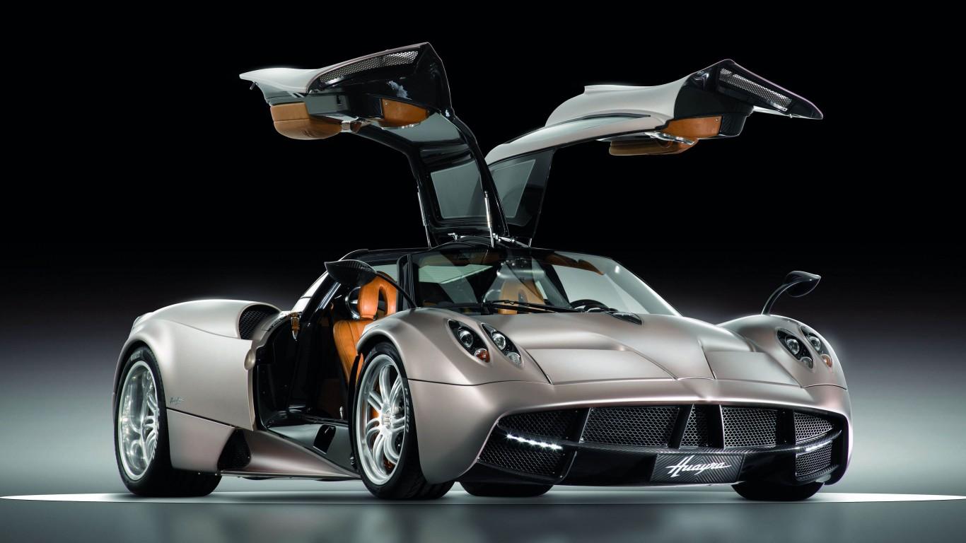 Pagani Huayra Gunmetal Front Side View