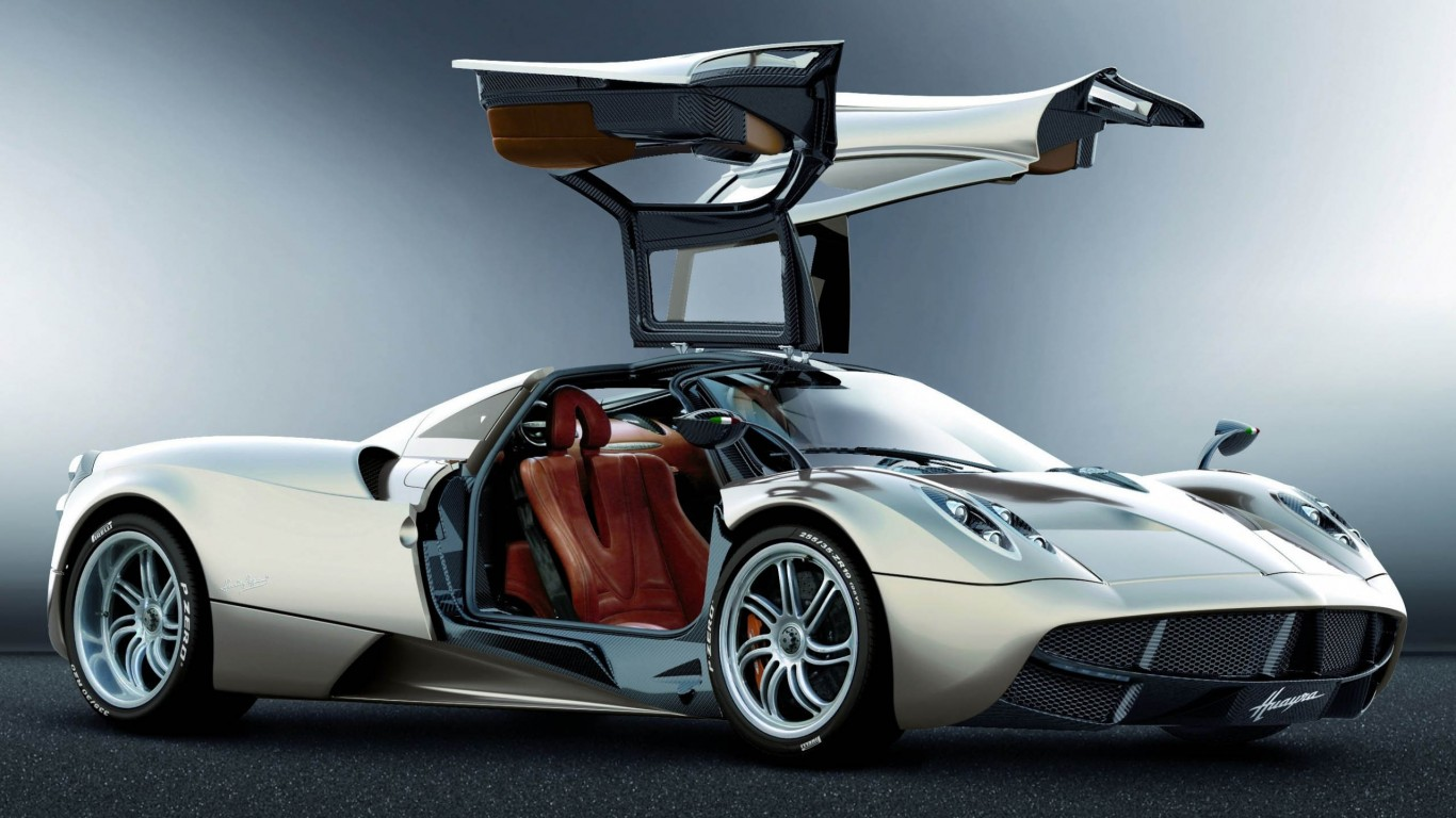 Pagani Huayra Silver Right Side View