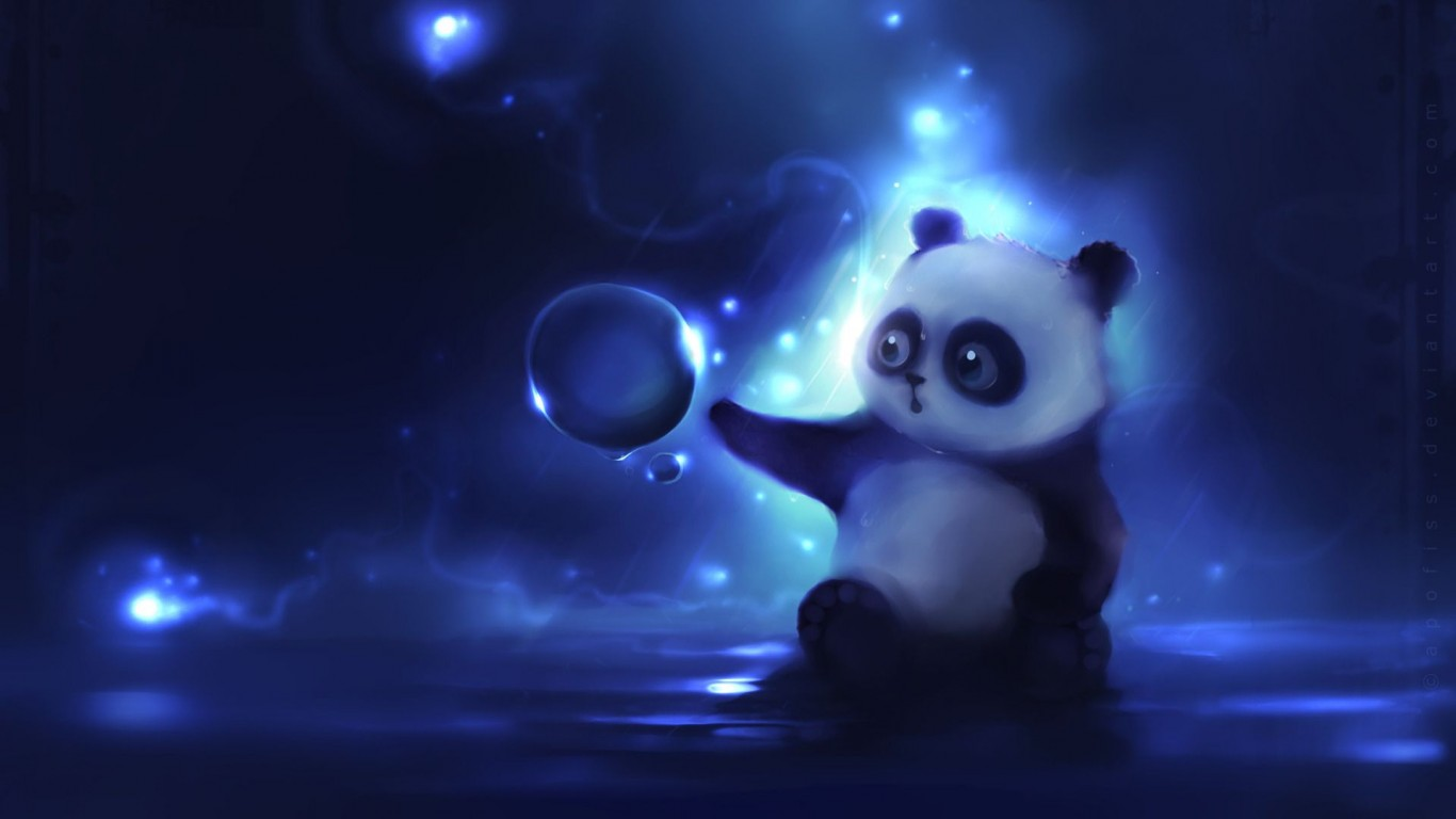 Panda  Bear  Ball  Curiosity  Picture