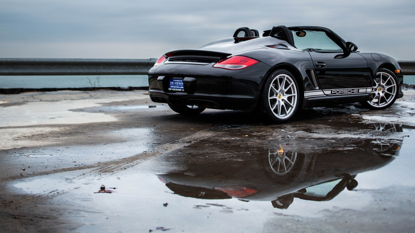 Porsche Boxster Spyder By Lake Michigan