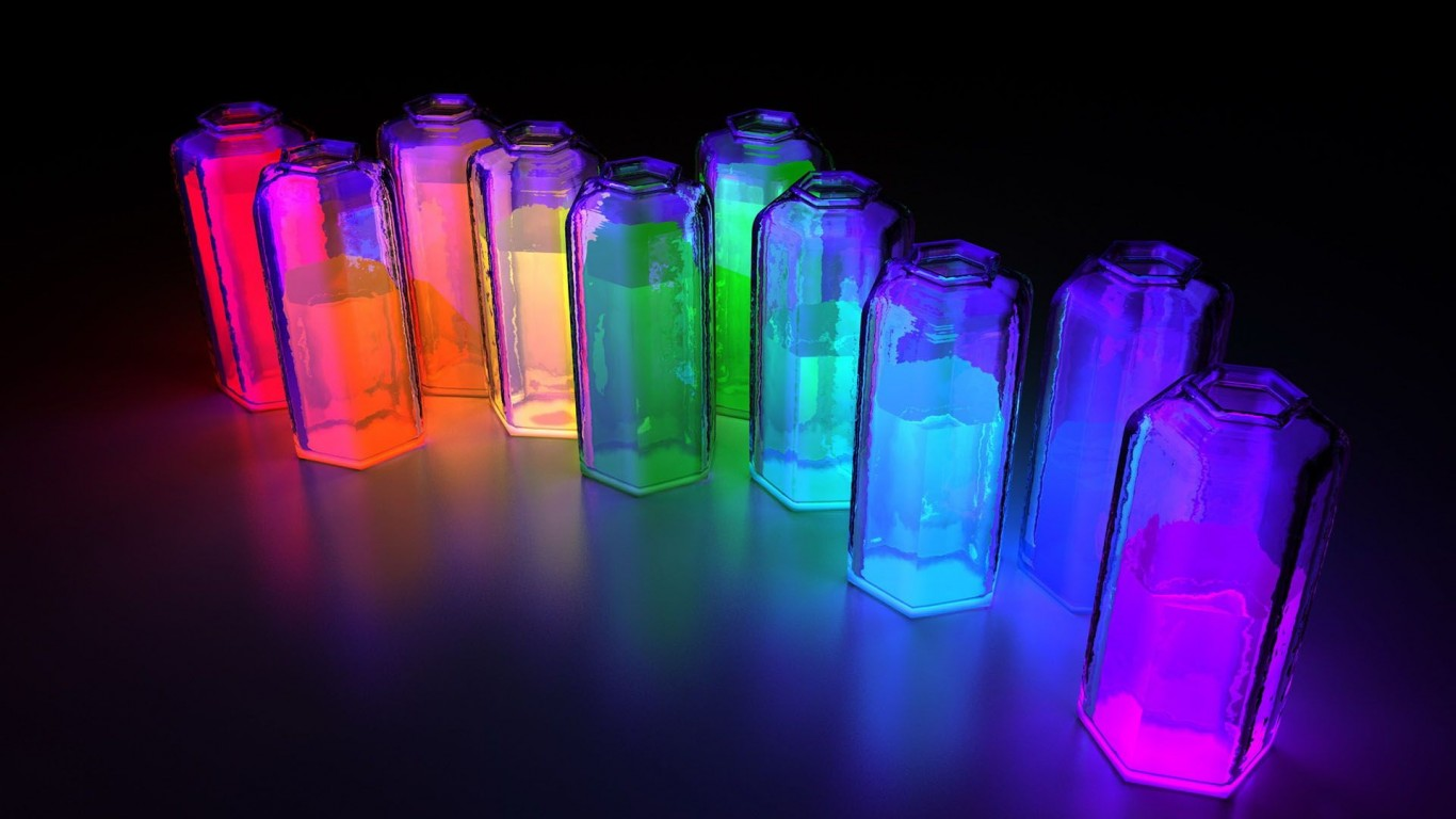 Colorful 3D Bottles