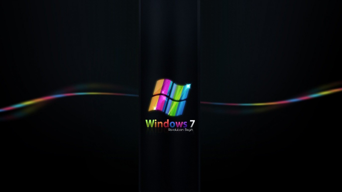 Rainbow Colored Windows 7