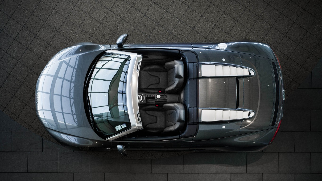 Audi R8 V10 Spyder From Above