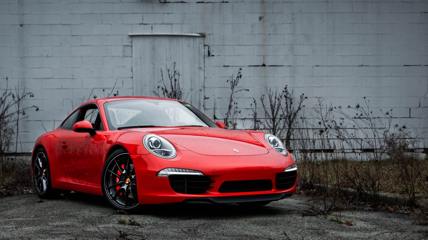 2013 Porsche 911 (991) With Black Wheels