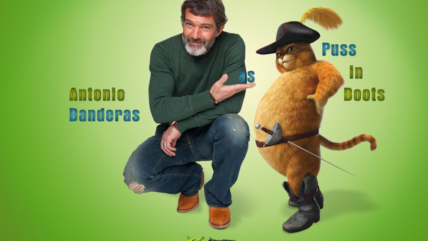 Antonio Banderas As Puss In Boots  Shrek