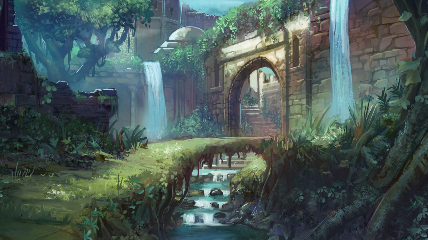 Castle Path Painting