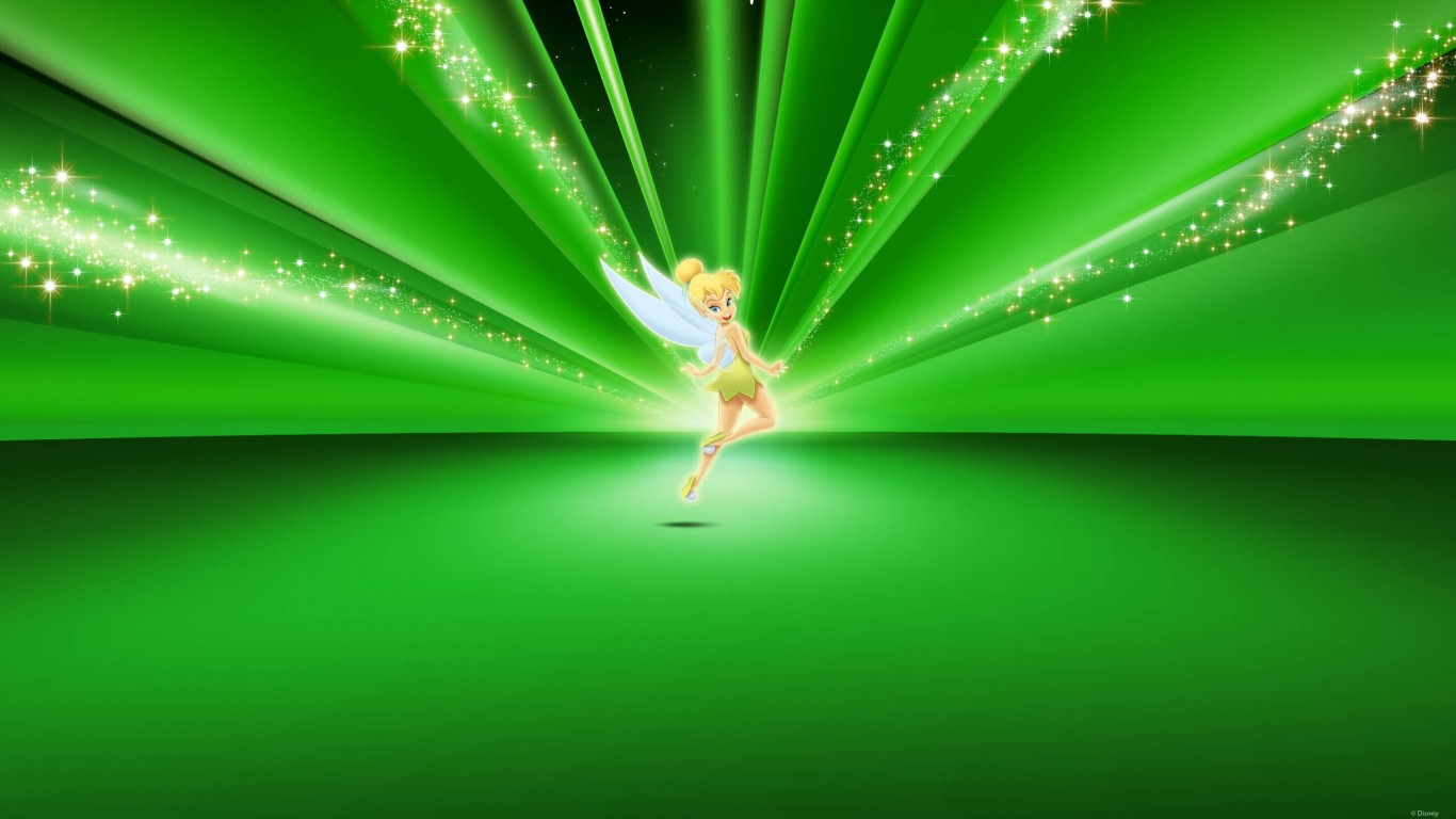 Tinkerbell Disney Green