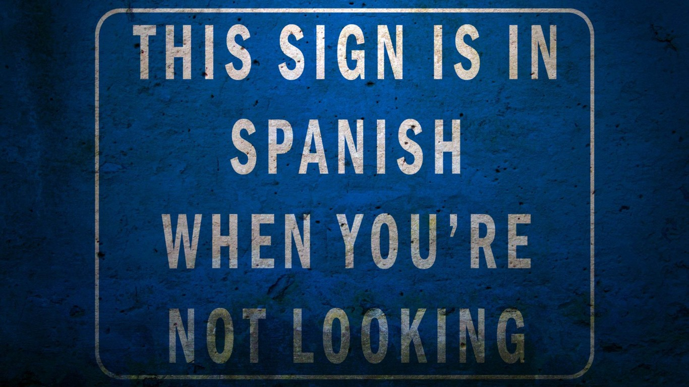 This Sign Is In Spanish When You're Not