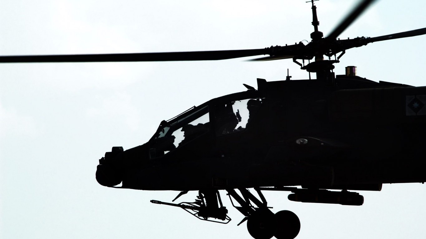 Apache helicopters  AH-64 Apache  White Background