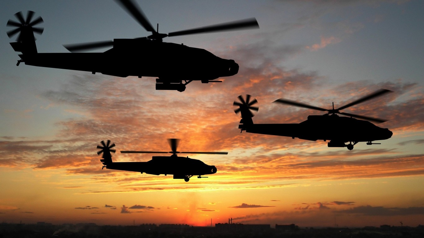 Army  Apache helicopters