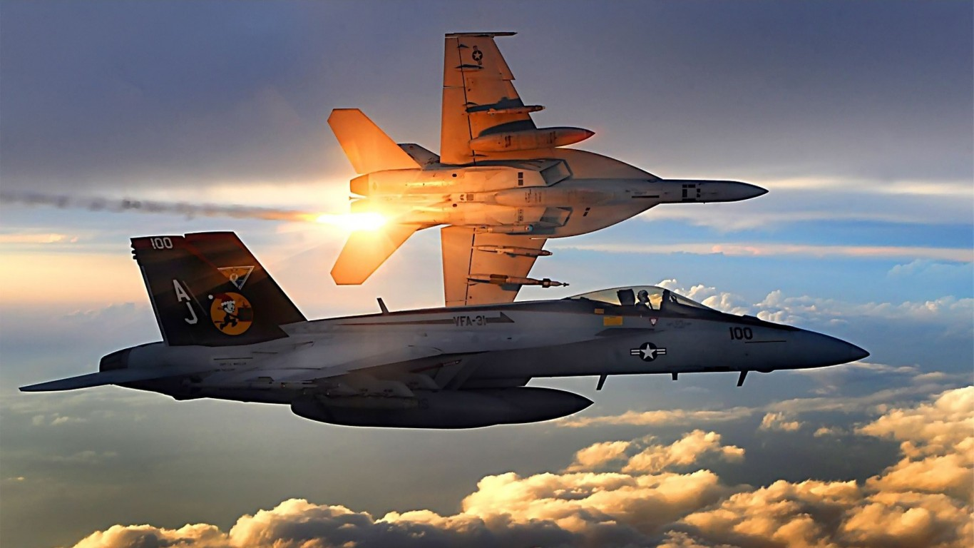 Clouds  Navy planes  Vehicle  F-18 Hornet