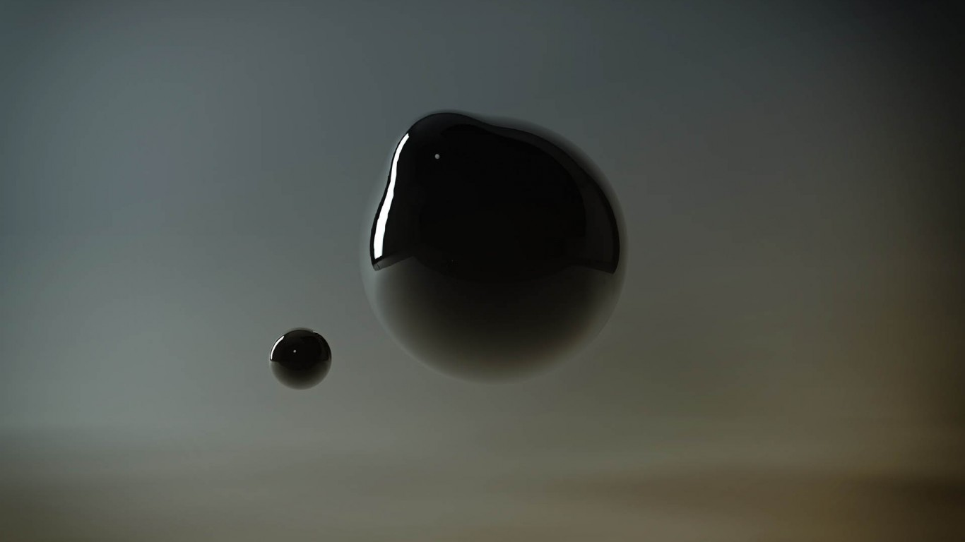 Abstract Black Bubble