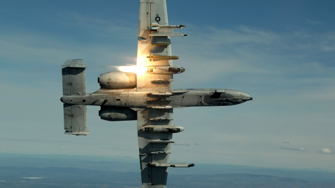 Military  Planes  Flares  A-10 Thunderbolt II