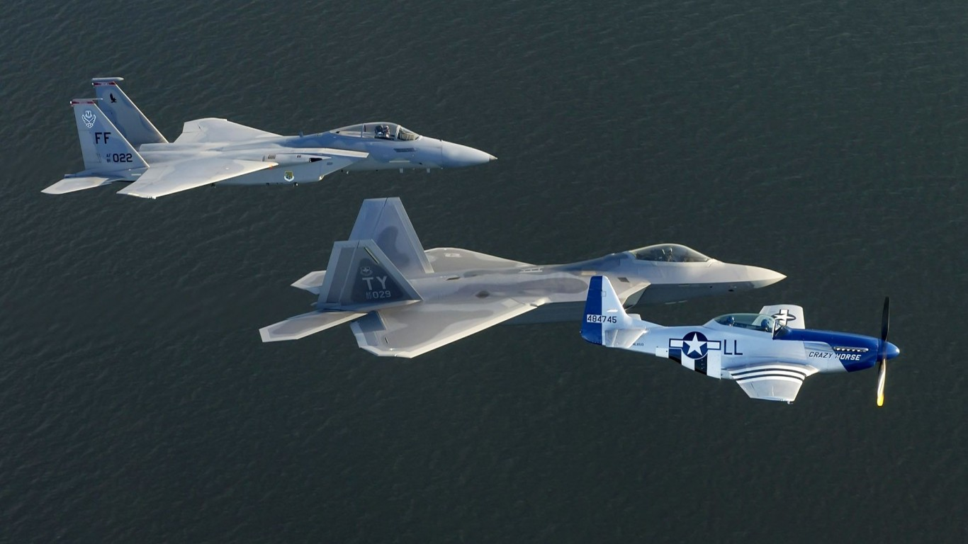 Military  Planes  P-51 Mustang  F-15 Eagle
