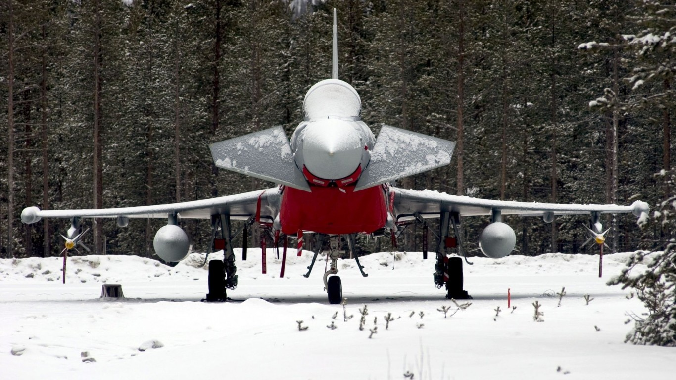 Snow  Aircrafts  Eurofighter  Typhoon  Fighter Jet