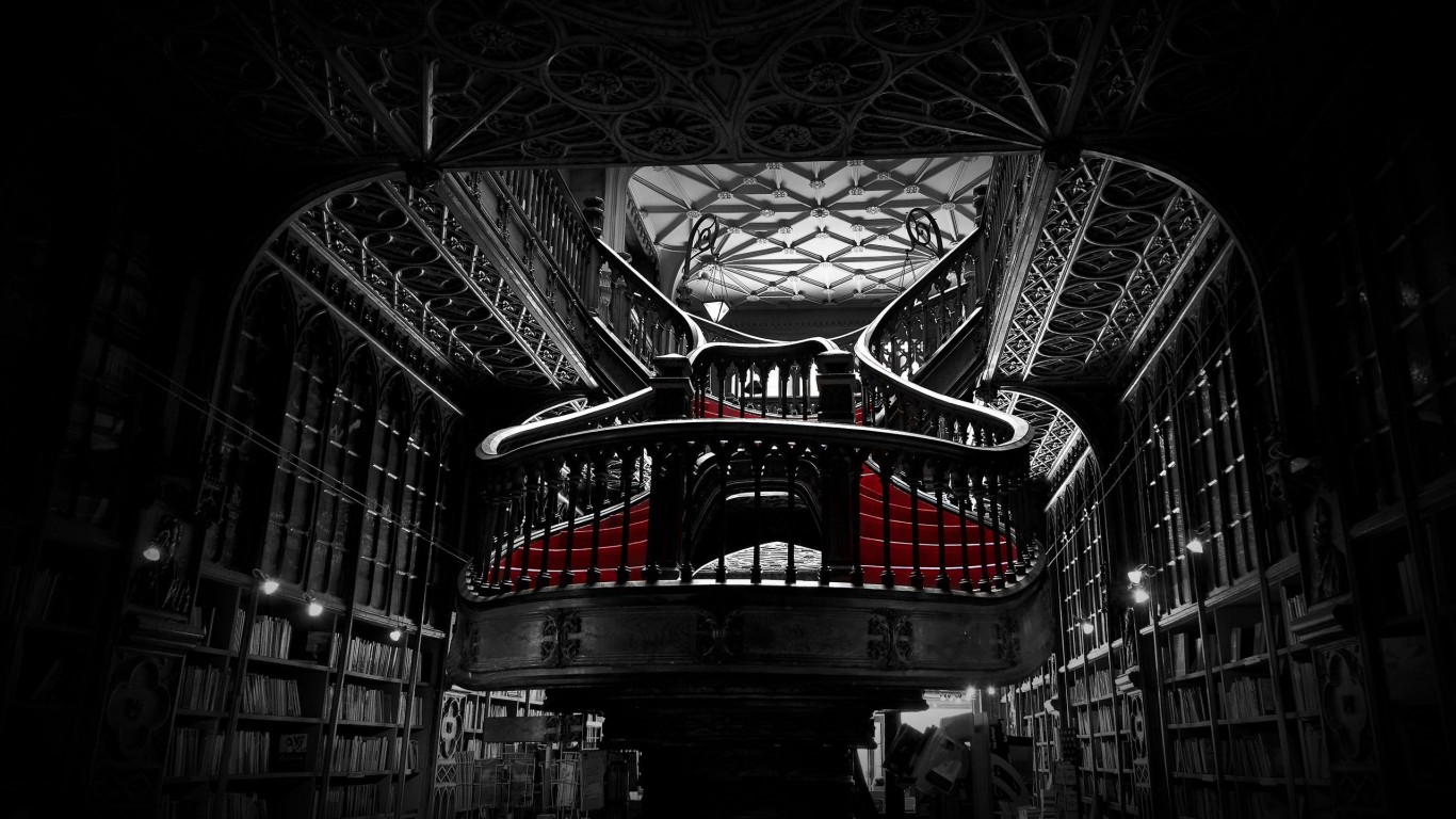Lello Bookshop In Porto  Portugal