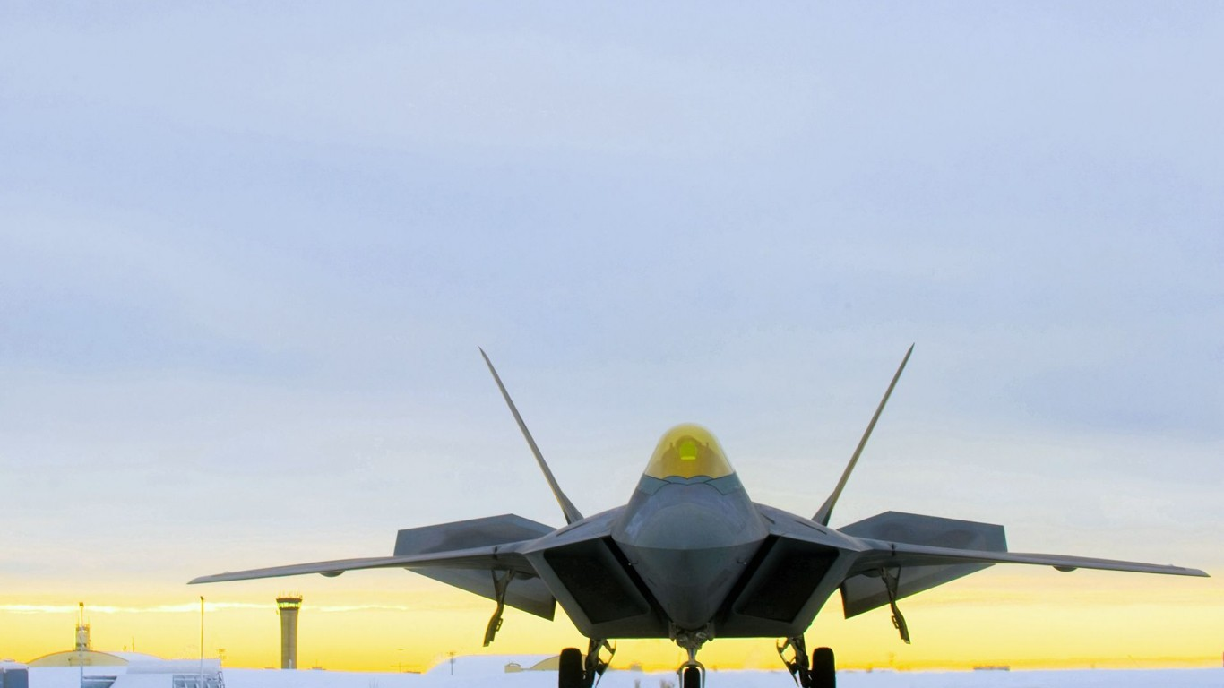 Military  Fighter  F-22 Raptor  Jet Planes