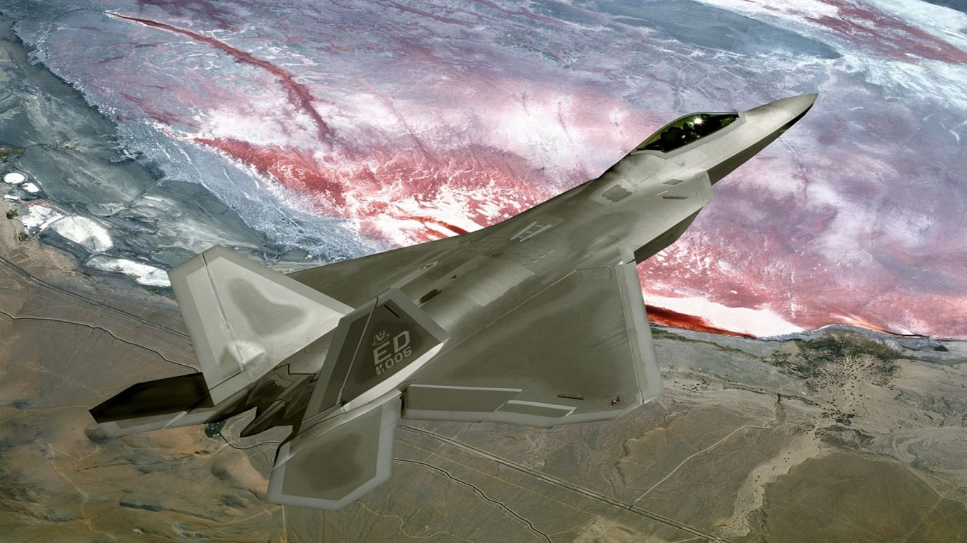 Military  Jet Fighter  F-22 Raptor